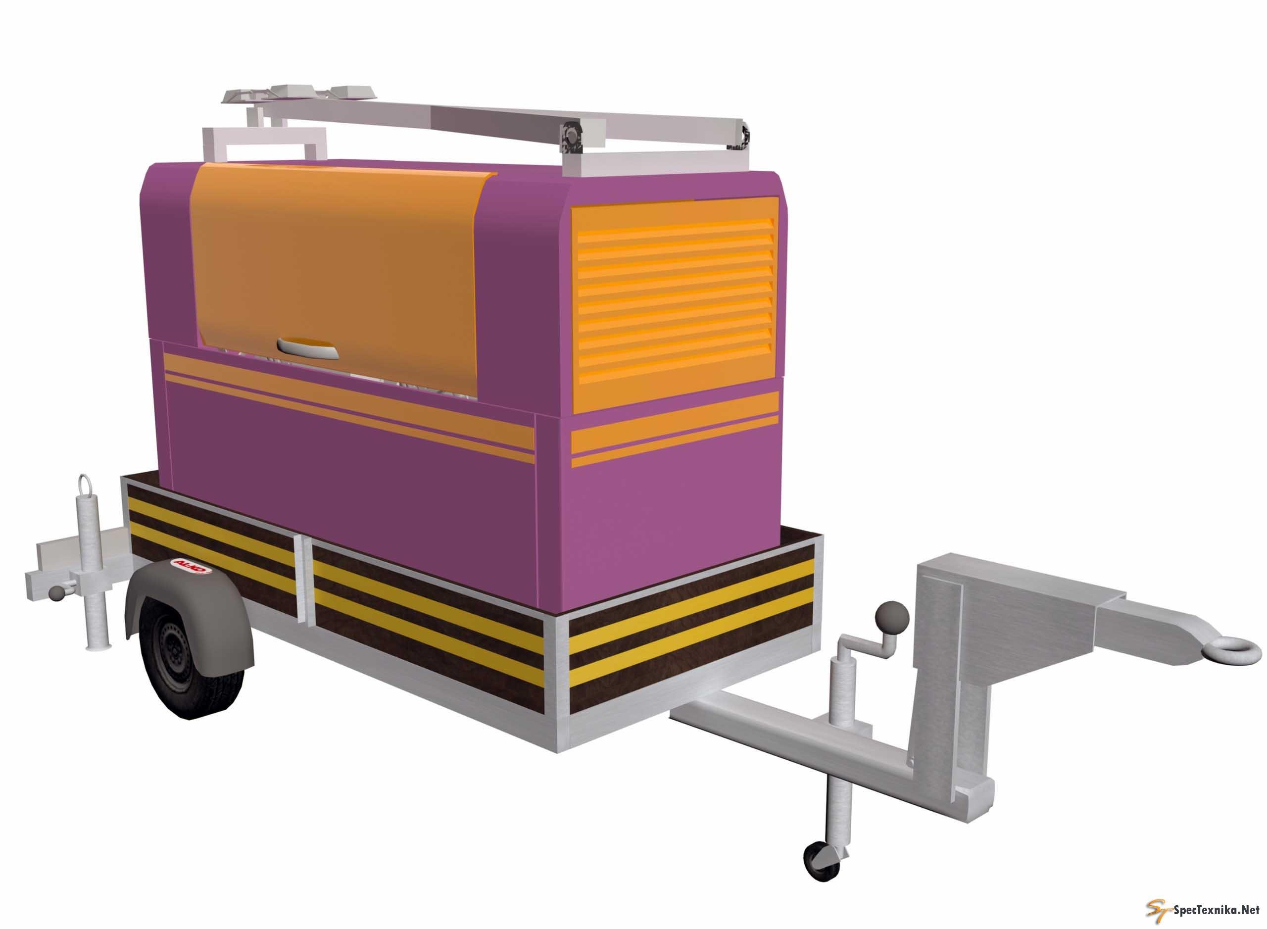 Агрегат  дизельный многофункциональный  компресорносварочный       передвижной  со  системой  освещения  ДГКА – 400МПО