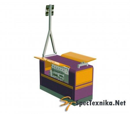 Агрегат  дизельный многофункциональный  компресорносварочный     стационарный   со  системой  освещения  ДГКА – 400МCО